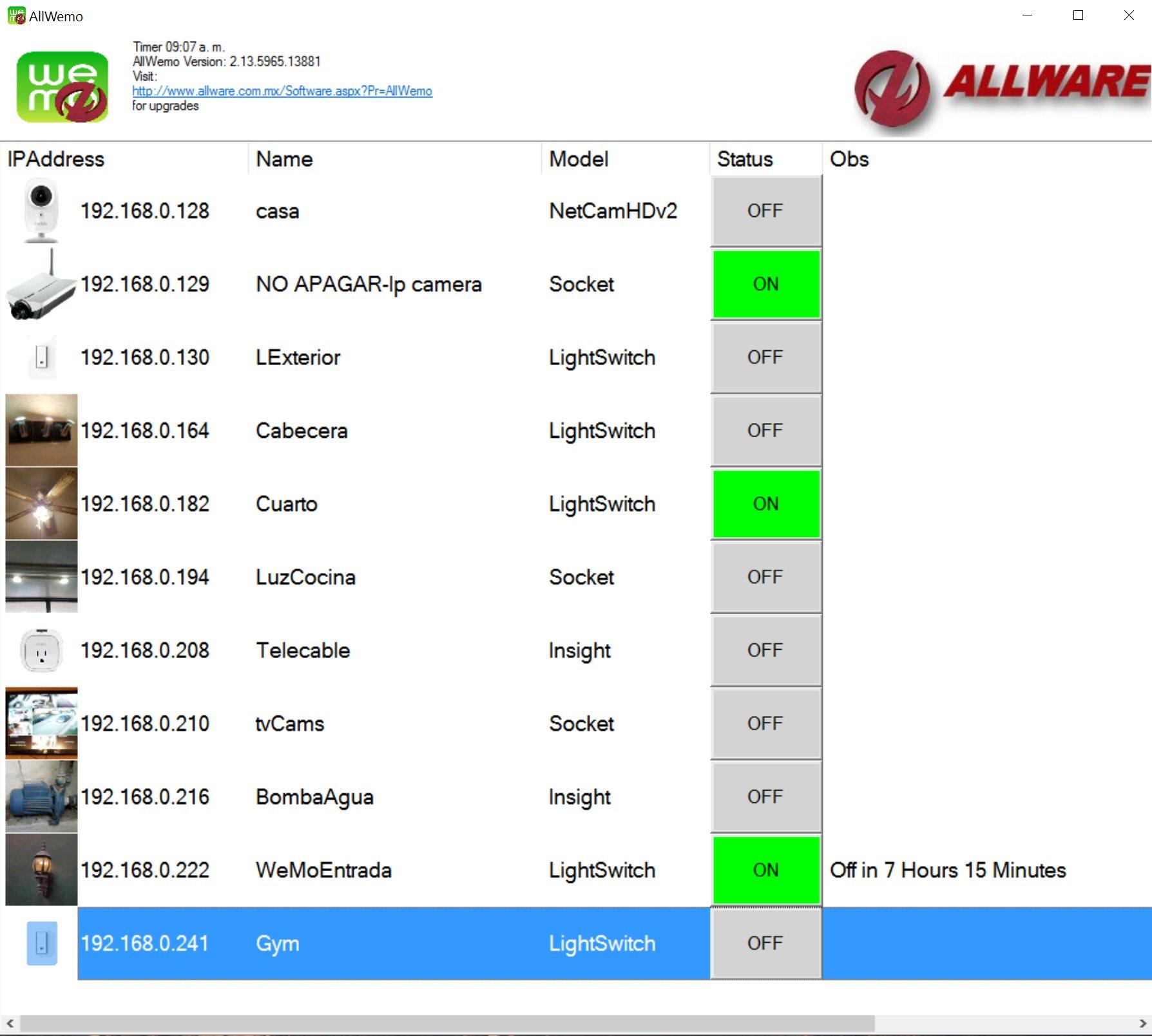 Screenshot of AllWemo